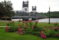 Stillwater, Mn lift bridge looking over to Wisconsin.