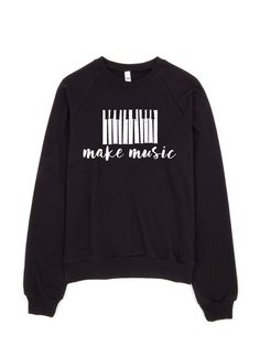 So soft, you'll want to make music in this cozy sweater all day long! - Soft fleecy inside stays cozy after multiple washes Printed on American Apparel Unisex Black Sweatshirt, 100% Cotton - Ultra-com