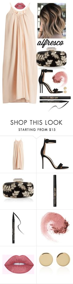 """""""Cream dress"""" by staceybuijs ❤ liked on Polyvore featuring Loup Charmant, Gianvito Rossi, Oscar de la Renta, Too Faced Cosmetics, NARS Cosmetics and Magdalena Frackowiak"""