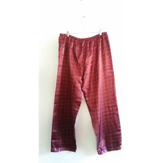 Unisex Vintage Baroque Red Green Design Print Versace Style Elastic Soft Sleep Silky Pajama Pants 18/1X