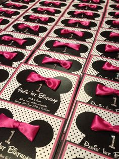 Mini mouse birthday invitation by InvitationHouseSA on Etsy, $11.50