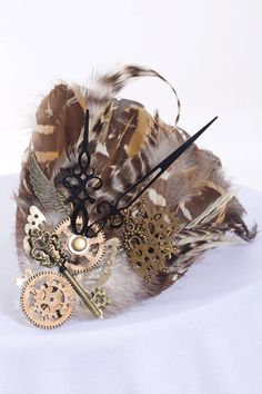 Love love love!!! Feather, Cog and Clock Headdress - R225,  from GlamorGals in Kenilworth (Cape Town)