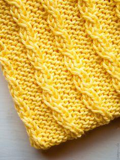 Gul karklud med tætte snoninger Simple Living, Knit Crochet, Pearls, Knitting, Blog, Diy, Accessories, Salons, Houses