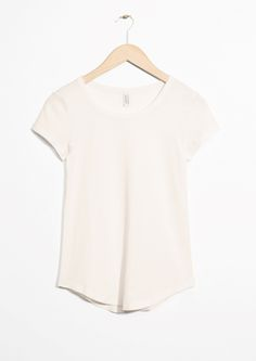 & Other Stories image 1 of Round Hem Tee in Off white