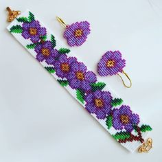 Bil # bracelet # bracelet # earring # handmade Related posts:How to see beautiful cherry blossoms in SeoulMoonlight Couture - - Bead Loom Patterns, Beaded Jewelry Patterns, Bracelet Patterns, Beading Patterns, Loom Bands, Bead Loom Bracelets, Tear, Loom Beading, Beaded Flowers