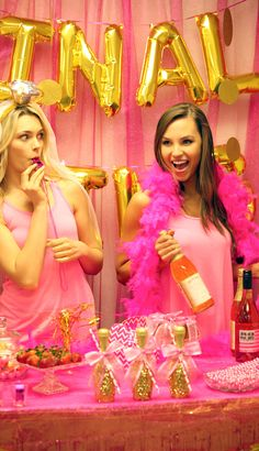 Pink & Gold Bachelorette Party Decorations from the House of Bachelorette