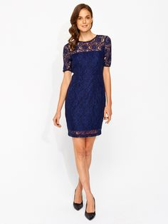 Image for Cobweb Lace Shift Dress from Portmans