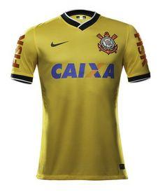 camisa corinthians amarela (Foto: Divulgação / Nike)