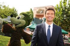 "Radio/television personality and ""American Idol"" host Ryan Seacrest poses in 2008 at Disney's Hollywood Studios theme park, home to The American Idol Experience attraction."