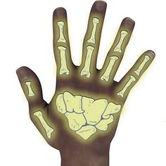 Glow-in-the-Dark Bone Tattoos