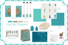 Concept Board Turquoise Inspiration Harlequin Wallpapers