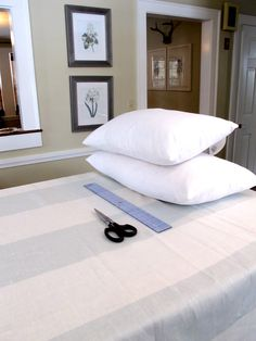 How to Make a Pillow Case (without a zipper, in 10 minutes)