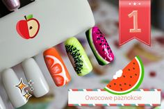 S Y L V E S T R R A * : TUTORIAL: Fruit Nail Art Designs - Owoce na paznokciach cz. 1 - ARBUZ