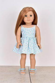 18 inch doll dress Spaghetti Straps Doll clothes by EliteDollWorld