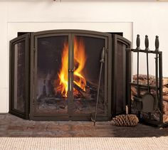 PB Classic Fireplace Triple Screen