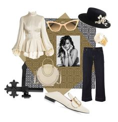 """Wknd In Spain"" by mshunt ❤ liked on Polyvore featuring MICHAEL Michael Kors, Andrew Gn, David Webb, Christian Roth, Chloé, Bally, flats, jeans, satin and Spain"