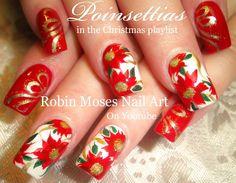 Impressive red nail art design