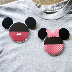 Mickey & Minnie Buttons - Instructions for creating your own