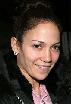 Jennifer Lopez, aka JLO, without makeup. #nakedfaceproject
