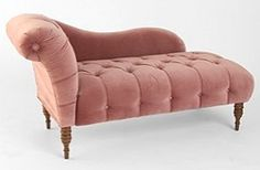 Edie Velvet Chaise - Dark Green *sigh* A proper fainting couch. pity it won't fit in the bedroom. Fainting Couch, Sofa Colors, Vintage Sofa, Vintage Pink, My Dream Home, Home Furniture, Garden Furniture, Pink Furniture, Velvet Furniture