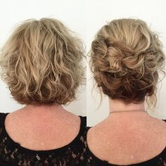 30 quick and easy hairstyles for every hair length - Haar-Tutorial einfach - Hochsteckfrisur Short Wavy Hair, Short Wedding Hair, Short Curly Hair Updo, Short Bob Updo, Short Hair Updos Tutorial, Bride Short Hair, Short Undercut, Hairstyle Short, Short Pixie