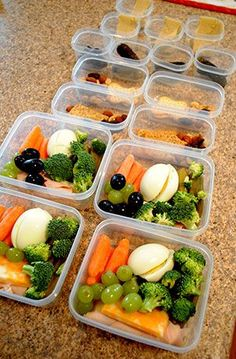 Fun & Healthy Lunches - Rubbermaid LunchBlox filled with healthy goodies to grab & go for work.