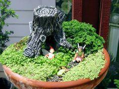 Fairy Garden in a Pot 2   Flickr - Photo Sharing!