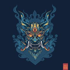 "Onimushi ""Japanese Themes"" on Behance Japanese Tattoo Symbols, Japanese Tattoo Art, Graffiti Wallpaper Iphone, Japanese Art Modern, Traditional Japanese, Samurai Wallpaper, Symbols Of Strength Tattoos, Hannya Tattoo, Oni Mask"