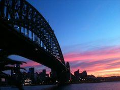 Sunset over the Sydney Harbour Career Fields, Sydney Australia, Sydney Harbour Bridge, Sunset, World, Travel, Life, Viajes, Destinations