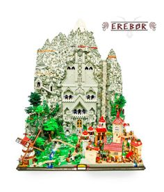 This Lord of the Rings LEGO Sculpture Brings Colorful Erebor to Life #LEGO trendhunter.com