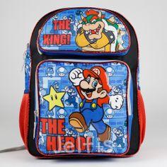 Jelfis.com - Super Mario Bros Backpack - Black 16' Large The King Koopa Boys School Book Bag, $17.99 (http://www.jelfis.com/super-mario-bros-backpack-black-16-large-the-king-koopa-boys-school-book-bag/)