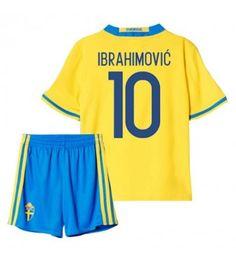 Sverige Fotbollskläder Barn 2016 Ibrahimovic 10 Hemmatröja Kortärmad Manchester United, Trunks, Barn, Swimming, Swimwear, Sports, Tops, Fashion, Man United