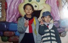 doyoung and gongmyung Jaehyun Nct, Gong Myung, Nct Doyoung, Nct Yuta, Baekyeol, Childhood Photos, Baby Swag, Boyfriend Material, Nct Dream