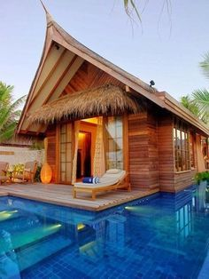 Island Cottage, The Maldives. Please...pretty please? I need something like this after the past few years of hell. This looks juicy and paradise-ish. Lol. :)