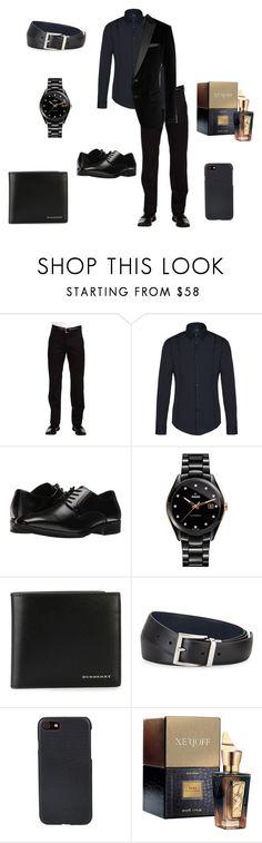 """Men Outfit #1"" by juliana307 ❤ liked on Polyvore featuring Dockers, Armani Jeans, Stacy Adams, Rado, Burberry, Prada, Shinola, Xerjoff, BOSS Black and men's fashion"