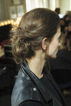 Beautiful textured braid. Hair by Cristiano Basciu of Richard Ward salon for Ong Oaj Pairam #AW16