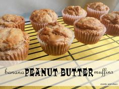 Banana PB muffins |  crumbsandchaos.net  *These need some work, they have great consistency however there is no sweetness to them at all. I would also recommend adding the peanut butter to the batter not layer them. So next time I will warm the peanut butter on the stove with a honey mixture and then add to the batter.*
