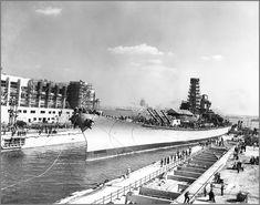 Vintage photographs of battleships, battlecruisers and cruisers.