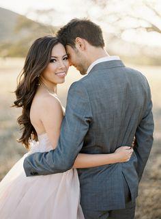 Beautiful couple via Jose Villa