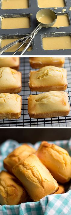 Very Yummy --- Mini Honey Cornbread Loaves - Erren's Kitchen - This recipe puts a new twist on regular cornbread. They are sweet, tender and baked to perfection. I Love Food, Good Food, Yummy Food, Honey Cornbread, Cornbread Recipes, Brunch, Snacks, Food And Drink, Cooking Recipes