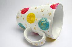 """Mug Série """"Spring"""" Peinture pour porcelaine sur porcelaine Magali Van de Wiele"""