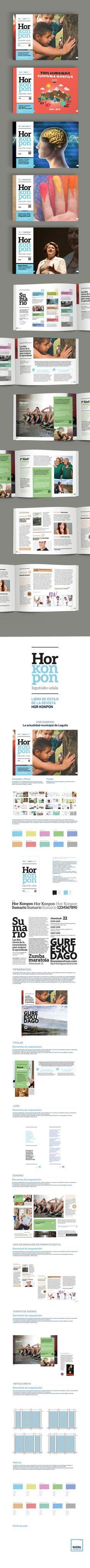HOR KONPON - AYUNTAMIENTO DE LEGUTIO Diseño editorial y digital. Edición impresa y online.