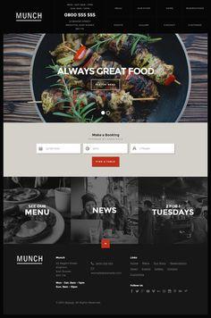 Munch is Premium Responsive WordPress Restaurant theme. Parallax Scrolling. Retina Ready. Reservations forms. SEO optimized. http://www.responsivemiracle.com/cms/munch-premium-responsive-restaurant-business-wordpress-theme/