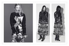 Tiscis Clan | Riccardo Tisci's chosen family for Givenchy's Fall/Winter Campaign 2013. The images were photogged by Mert Alas & Marcus Piggiott and features: Carine Roitfeld, Julia Restoin Roitfeld, Amanda Seyfried, Dalianah Arekion & Mariano Ontañon, with styling by Carine Roitfeld.