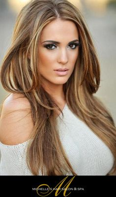 Beautiful Brown Hair with a Touch of Blonde    www.hairsalonwestlakevillage.com    #hairsalonthousandoaks