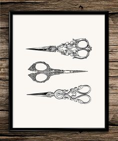 Vintage Scissors | Vintage Prints | Kitchen Prints | Office Decor | Home Decor | Printable Wall Art | 8x10 | Instant Download |