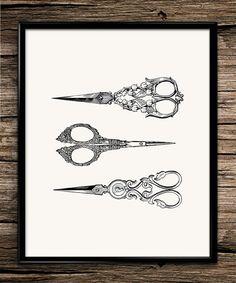 Vintage scissors antique scissors hair dresser hair scissors hair clippers…