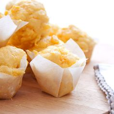 """Corn bread without the corn meal.""""Corn muffins with fresh corn. Gluten Free, Dairy Free, Sugar Free, but kids still love them!"""" i love corn Corn Recipes, Waffle Recipes, Dairy Free Recipes, Raw Food Recipes, Yummy Recipes, Bread Recipes, Baking Recipes, Vegetarian Recipes, Foods With Gluten"""