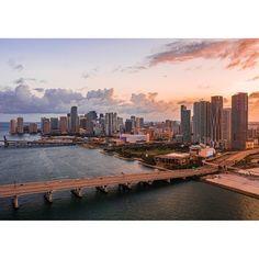Facebook Poster, Miami Sunset, Photo Wrap, Fl Usa, Downtown Miami, Time Photo, Triptych, New York Skyline, Poster Prints
