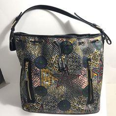 192648c7e Lamb Fulani Bucket Bag Purse Multicolored Prints Leather Handbag Gwen  Stefani